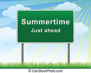 Summertime just ahead billboard. - Summertime just ahead...