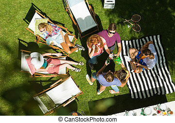 Summertime party in the countryside