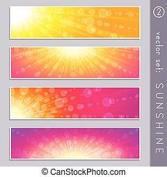 Summertime sky banners