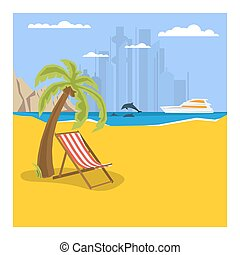 Summertime - square banner template