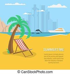 Summertime - square banner