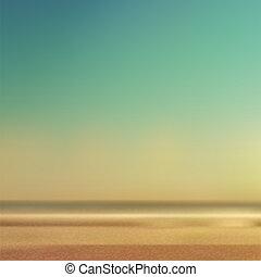 summertime, strand, en, zee