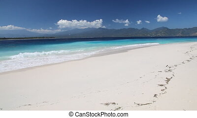 Summertime tropical island white sa - Gili Meno island,...