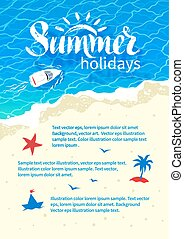 Summertime vacation flyer design - Summertime design with...