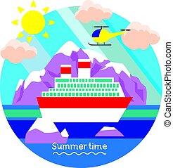 Summertime vacation. - Creative conceptual vector....