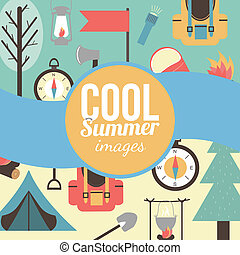 Summertime vacations and traveling background. - Mountain...