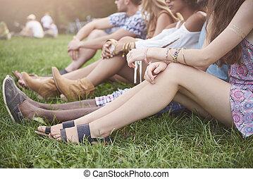 Summertime vibes at music festival