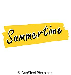 Summertime writing vector illustration