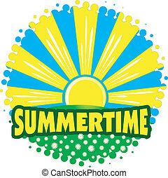 summertime, zon