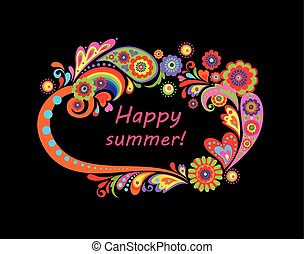 Summery colorful frame