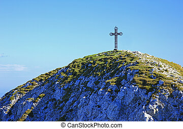 Summit Cross - Peak cross on the summit of Punta Telegrafo...