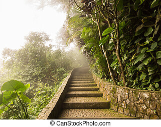 Summit of Sugarloaf Mountain Rio de Janeiro Brazil - Misty ...