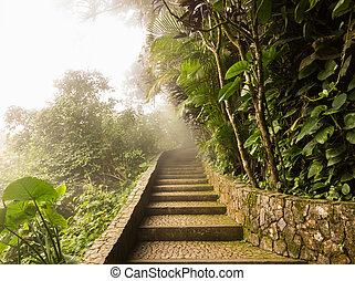 Summit of Sugarloaf Mountain Rio de Janeiro Brazil - Misty...
