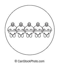 sumo, 人々, レスリング, アイコン
