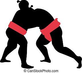 Sumo wrestling fight