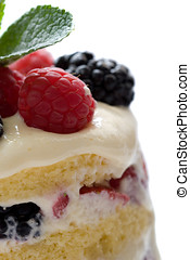 Sumptuous dessert - Closeup of dessert made of layers of...
