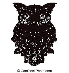 Wise Owl Coloring Page In Exquisite Style Sumptuous