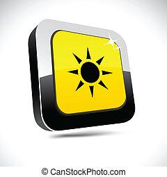 Sun 3d square button.