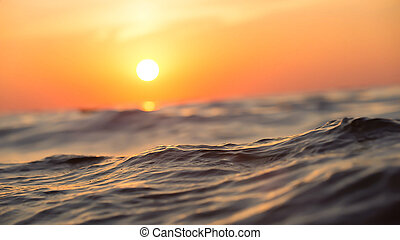 Sun above the water