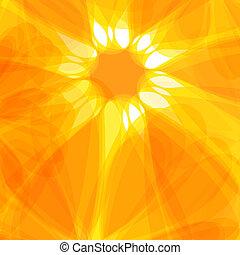 Sun abstract background. Solar energy concept