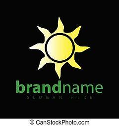 Sun Abstract Logo icon vector template