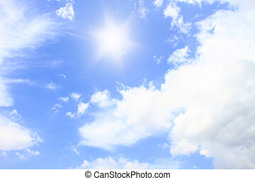 sun and bluesky in summer