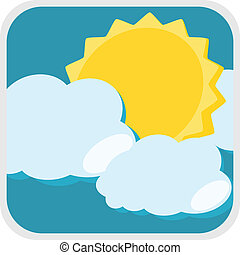 Sun and cloud weather illustration