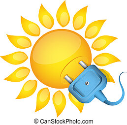 Sun and electrical outlet renewable energy for home