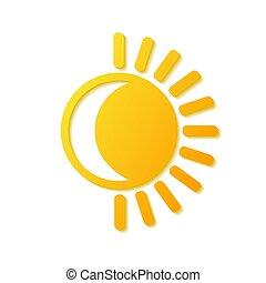 Sun and moon symbol logo, stock vector illustration