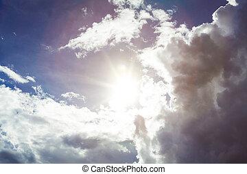 Sun and rain clouds
