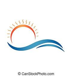 Sun and sea. Summer vector