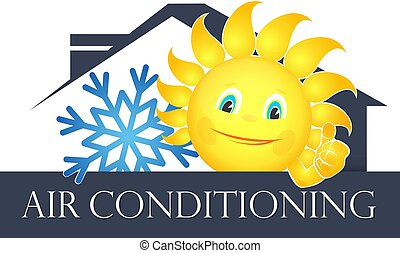 Sun and snowflake air conditioning