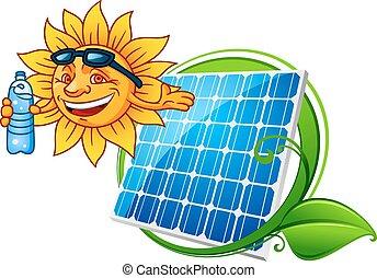 Sun and solar panel