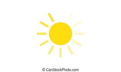 sun animation loading animation. Loading sun icon for traveling site or site about nature 4k video