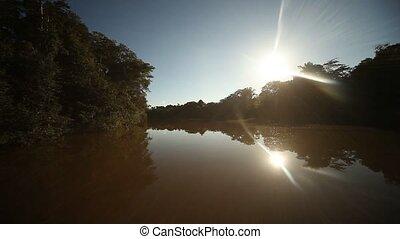 Sun At Amazon, Peru