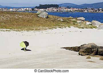 Sun, beach and umbrella