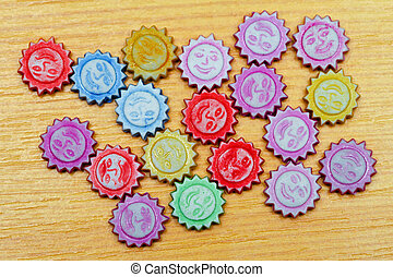 Sun beads color