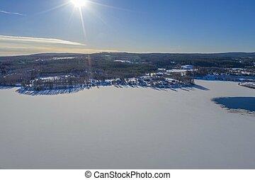 Sun beams in winter