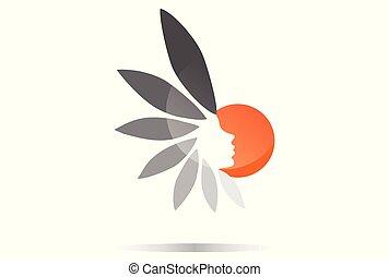 sun beauty vector logo