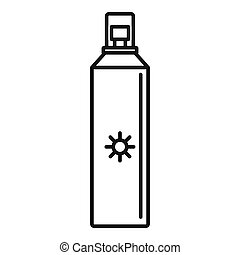 Sun block spray icon, outline style