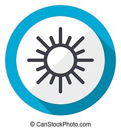 Sun blue flat design web icon