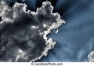 Sun breaks through cloud