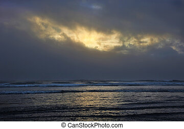 Sun Breaks Through Clouds