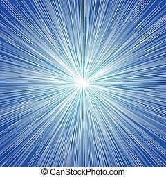 Sun Burst Blast Blue Background