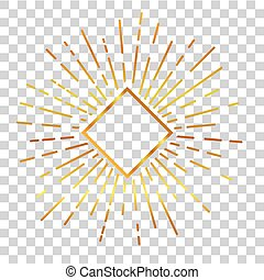 Sun Burst - Golden 01A - vector golden sunburst