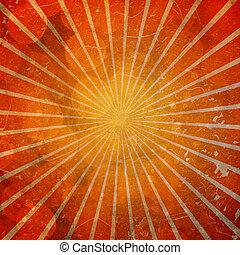 sun burst orange gradient background with scratches