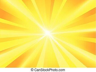 Sun Burst Rays Background
