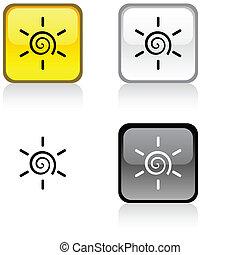 Sun button.