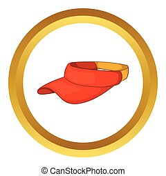 Sun cap vector icon