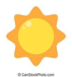 sun cartoon abstract design